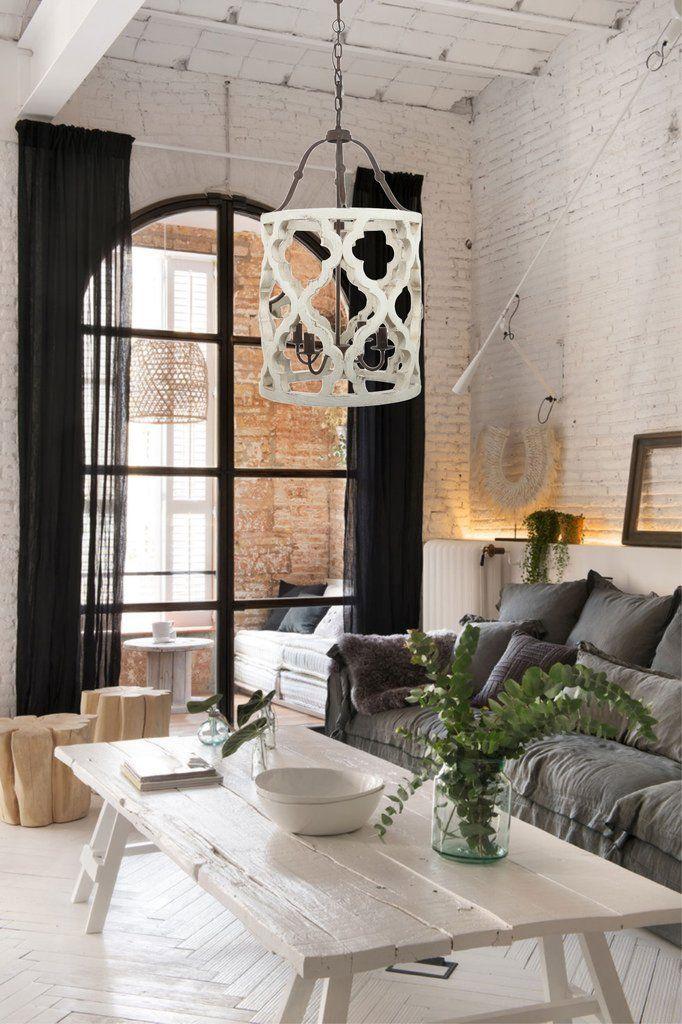 Distressed barrel chandelier casas chicas casa estilo y arquitetura aloadofball Gallery