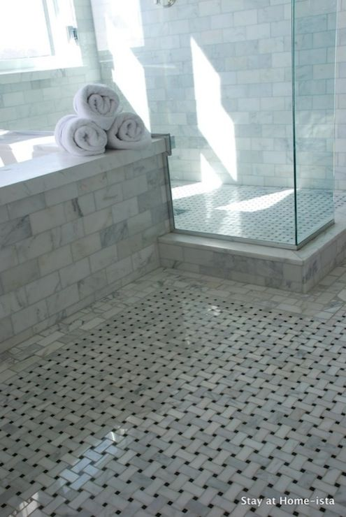 marble basketweave tile. What About Marble Subway Tiles? Bathrooms - Seamless Glass Shower Basketweave Tiles Floor Surround Beautiful Tile