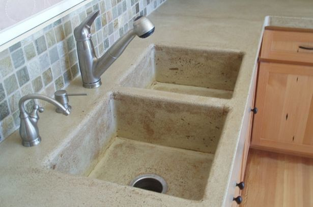 How to make concrete sinks concrete sink concrete and sinks how to make a concrete sink love the color separate bins workwithnaturefo