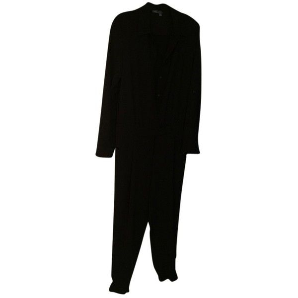 Pre-owned Vince Jumpsuit/romper ($101) ❤ liked on Polyvore featuring jumpsuits, rompers, black, suits, black rompers, vince jumpsuit, jumpsuits & rompers, black romper and black jumpsuit romper