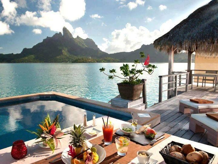 Beautiful morning in Bora Bora