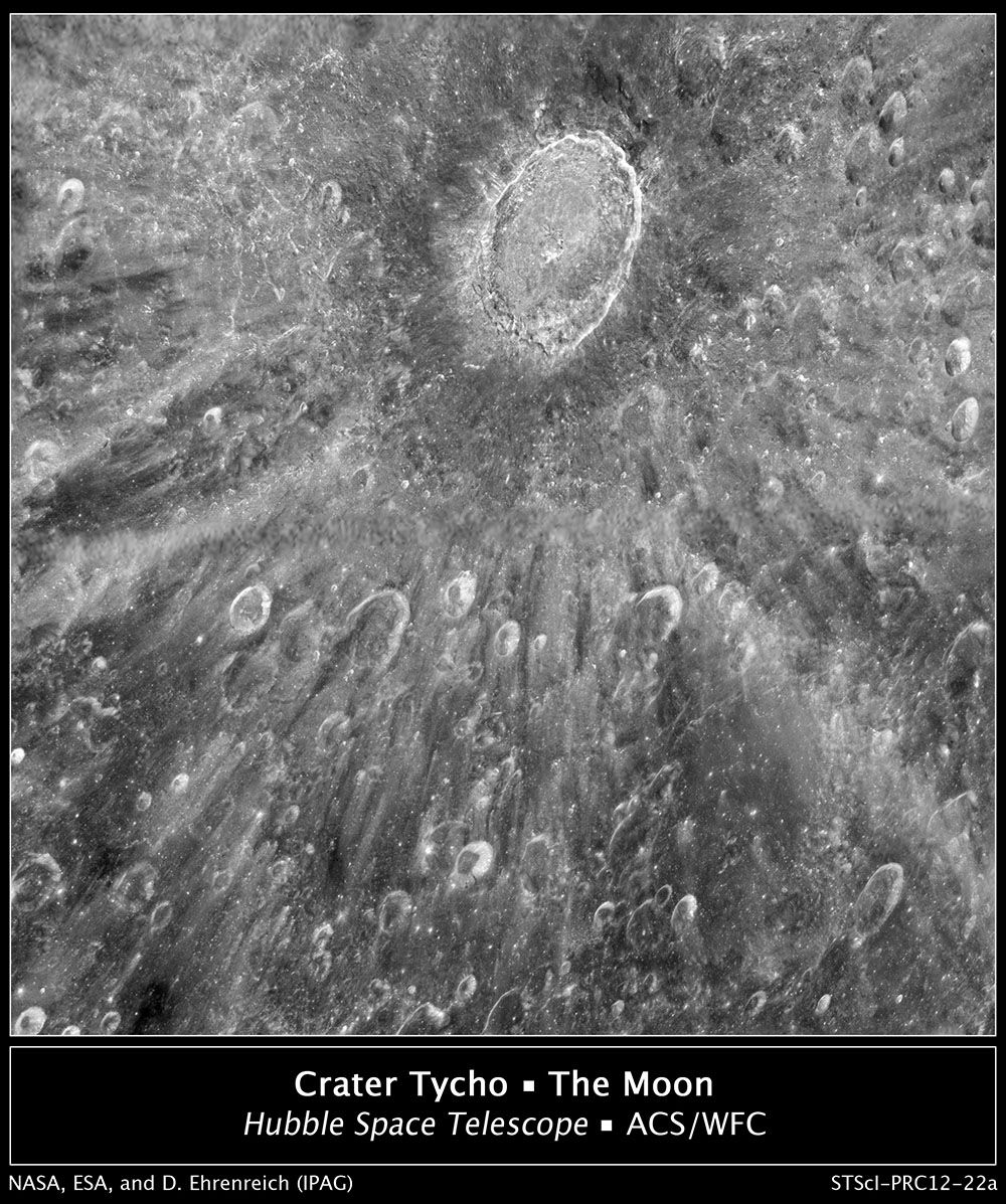 Crater Tycho on the Moon
