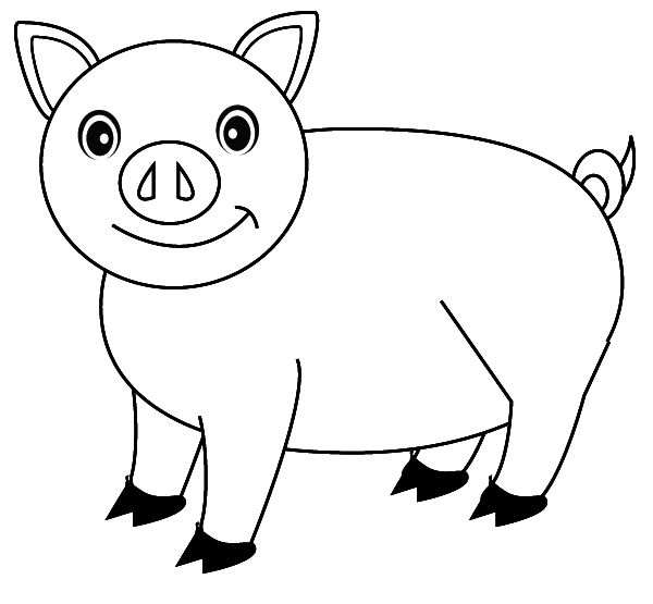 Pig Coloring Pages Free Printable For Kids Enjoy Coloring Farm
