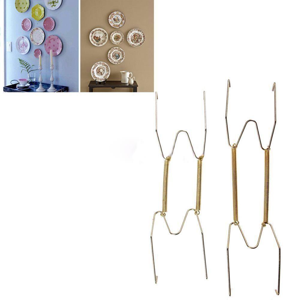 Plate Spring Dismountable Hook Wall Hanger Holder Hanging Wire Art Decoration - Multiple colors