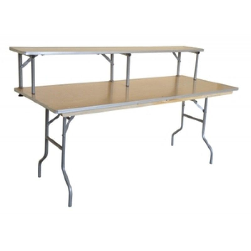 This Rectangle Bar Top Riser For Banquet Table With Metal Edge Is A Great  Addition To Your Rental Business Or Catering Facilities.