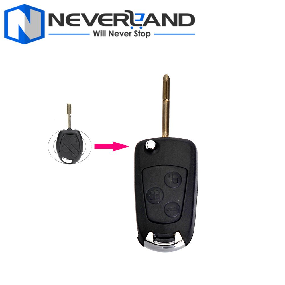 2017 High Quality New Replacement 3 Button Flip Remote Key Fob