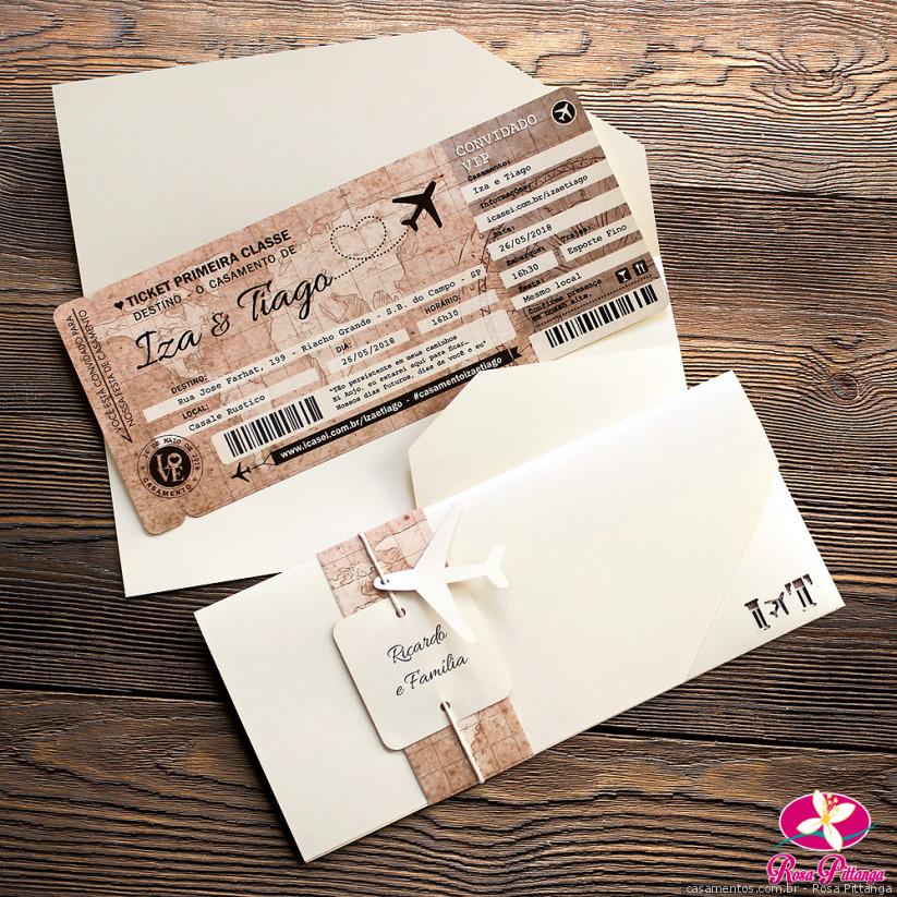 5 Ideias de convites para casais que amam viajar