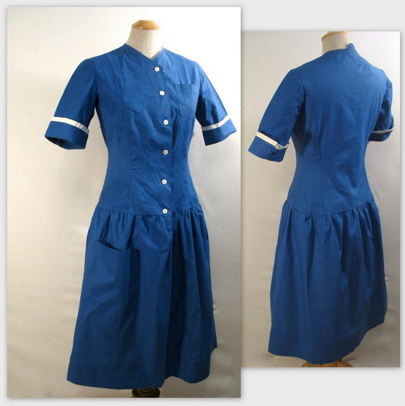 1940's blue maid uniform - Ida | See How They Run Costume ...