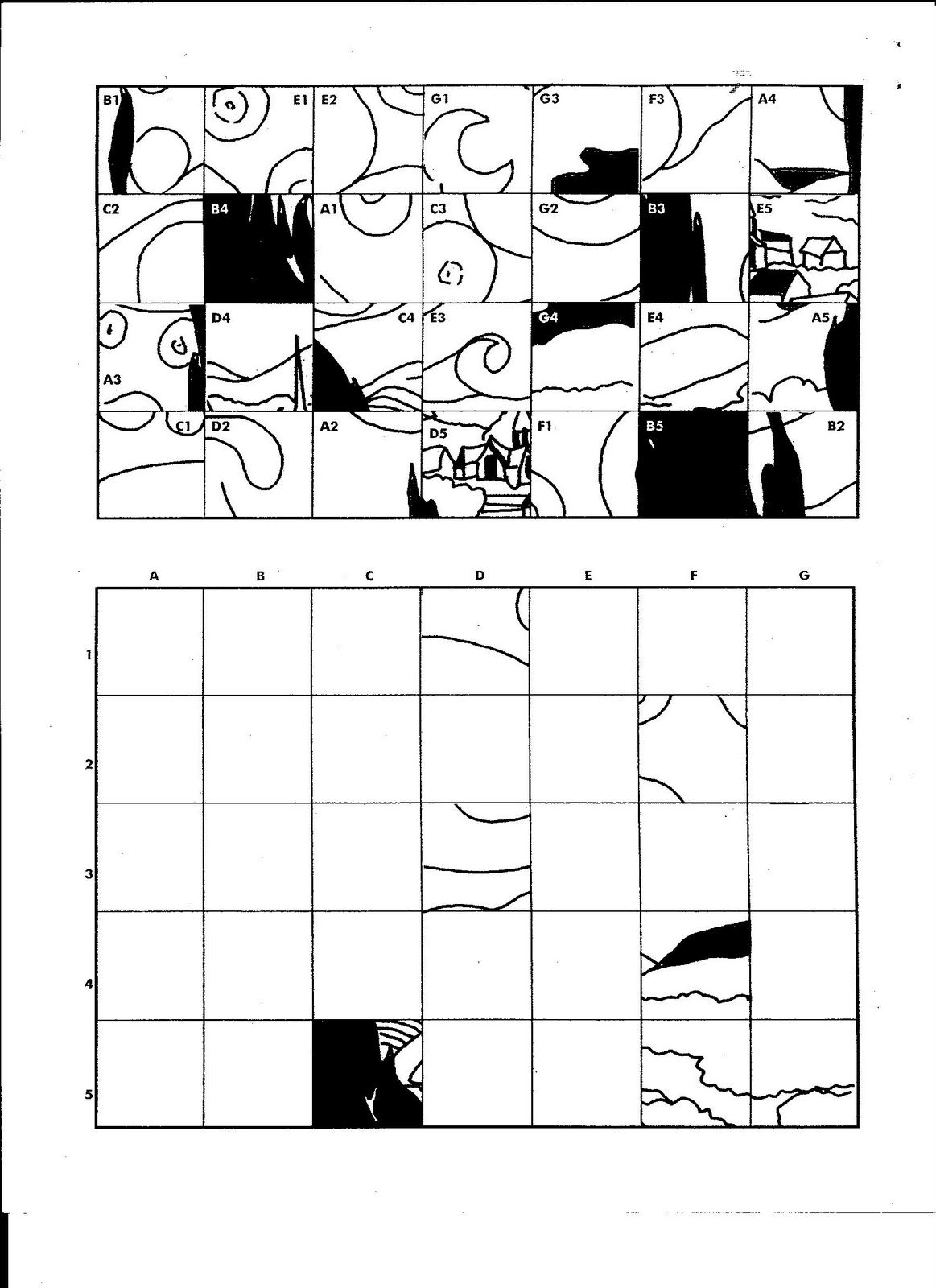 Free Worksheet Grid Art Worksheets 17 best images about group murals grid drawings on pinterest starry nights collaborative art projects and self portraits