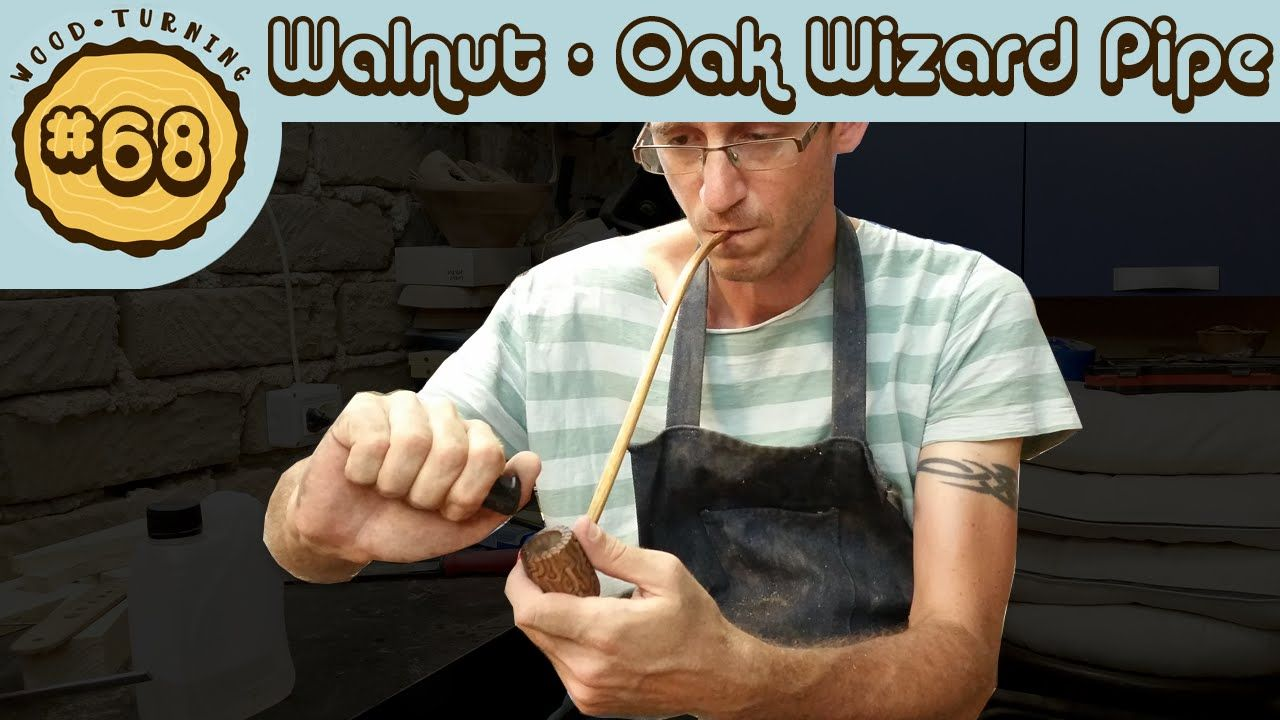 #68 Woodturning Walnut and Oak Wizard Pipe