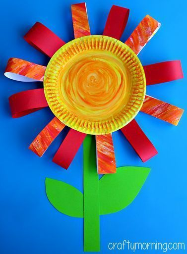 Paper Plate Flower Craft Use For Grateful Character Word List