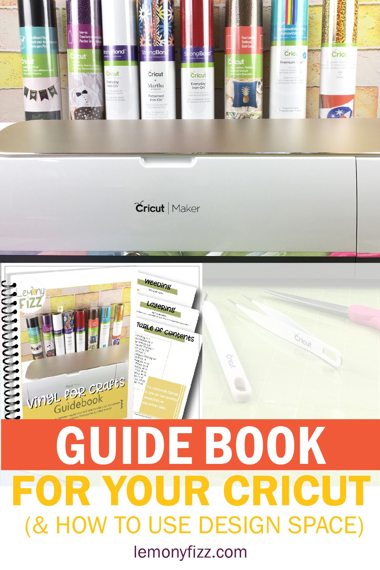 Cricut Guidebook for Design Space Basics #cricutvinylprojects