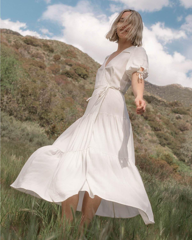The Augusta Dress Shell In 2021 Dresses Midi Short Sleeve Dress White Flowy Dress [ 1500 x 1200 Pixel ]