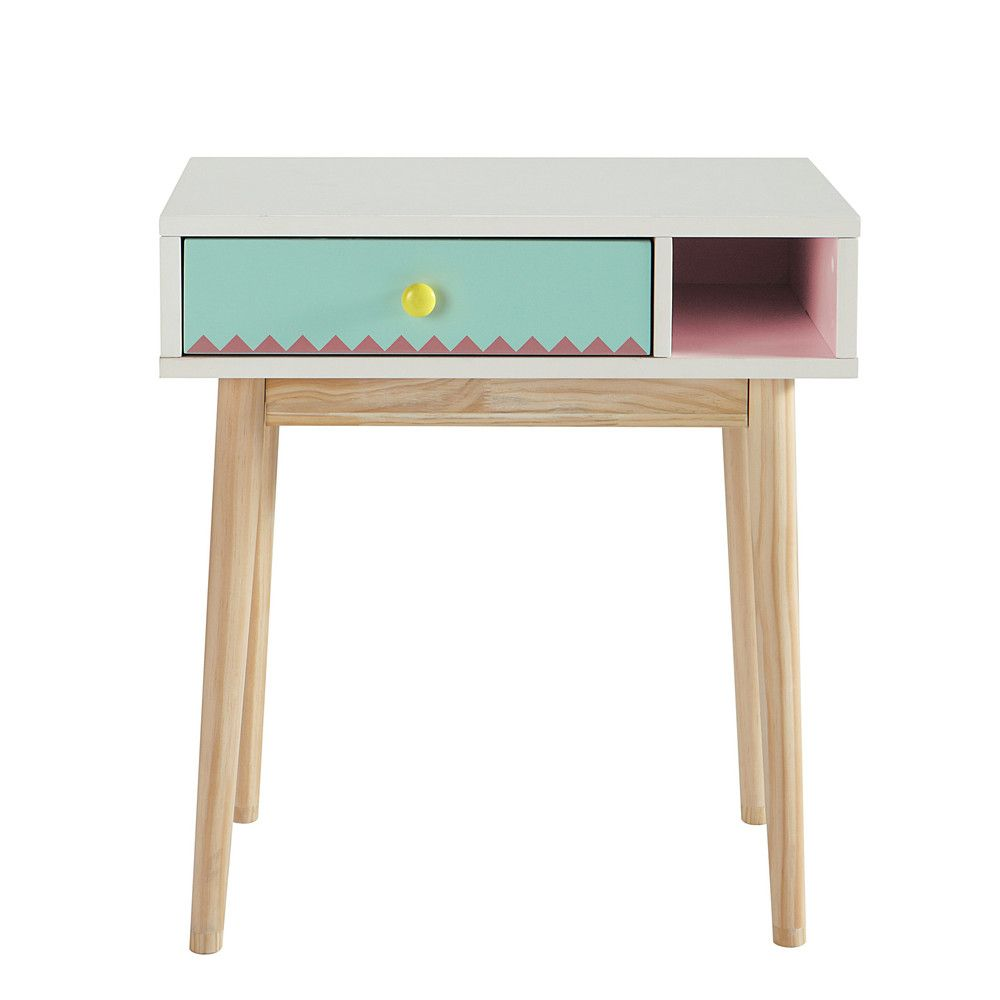 Wooden childs desk in white W 60cm Berlingot Child desk