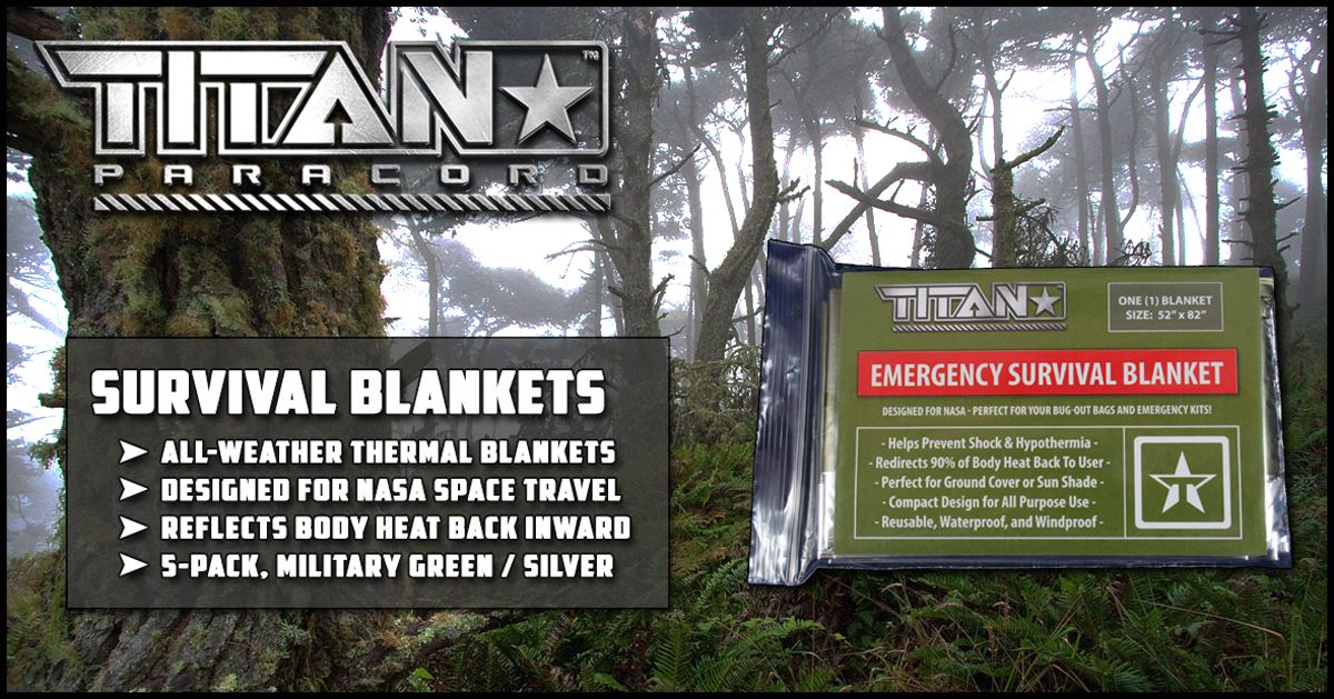 TITAN's Olive-Drab Survival Blankets were specifically