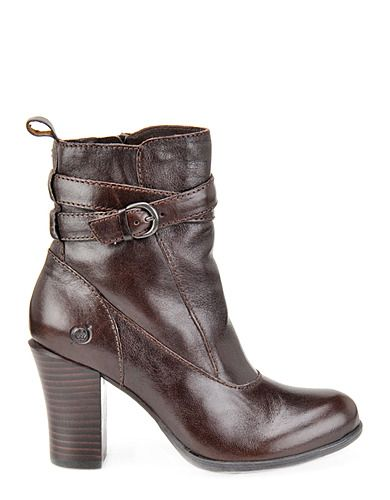Chyler Brown Leather Ankle Boots