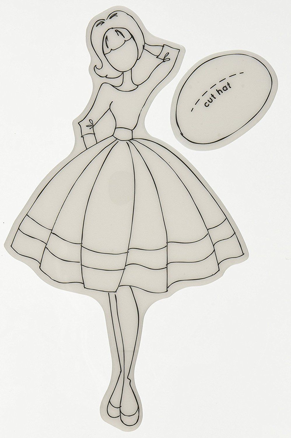 Prima Marketing Foam Julie Nutting Mixed Media Cling Rubber Stamps-Doll with ...