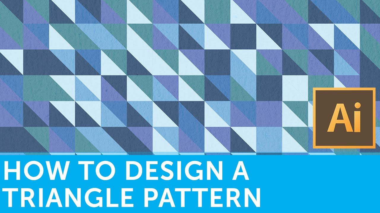 Flat Design Tutorials How To Make A Retro Triangle Pattern With Adobe Illustrator And Photo Design Tutorials Illustrator Tutorials Adobe Illustrator Tutorials