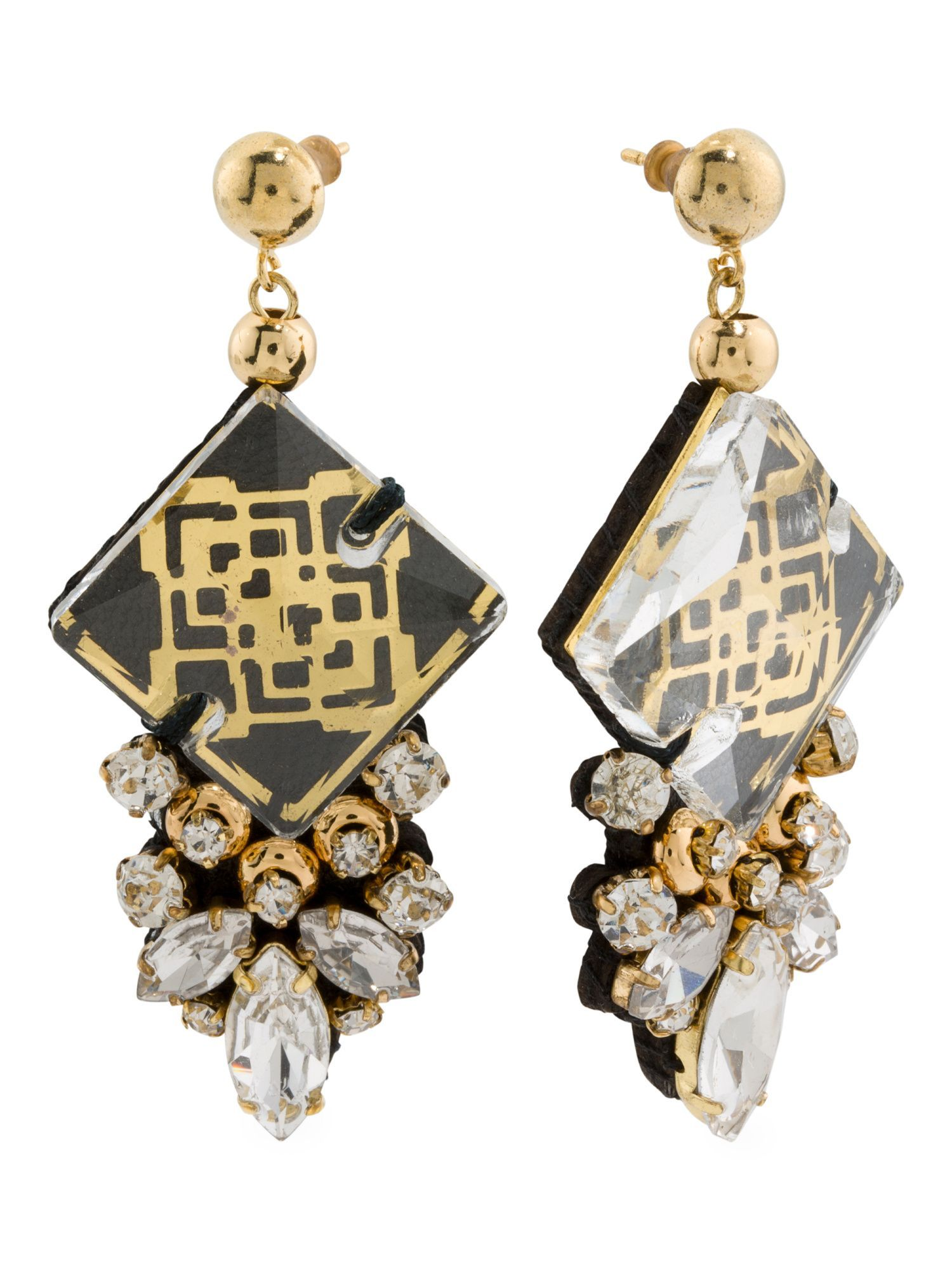 Designed In The Uk 18k Gold Plated Bora Statement Earrings