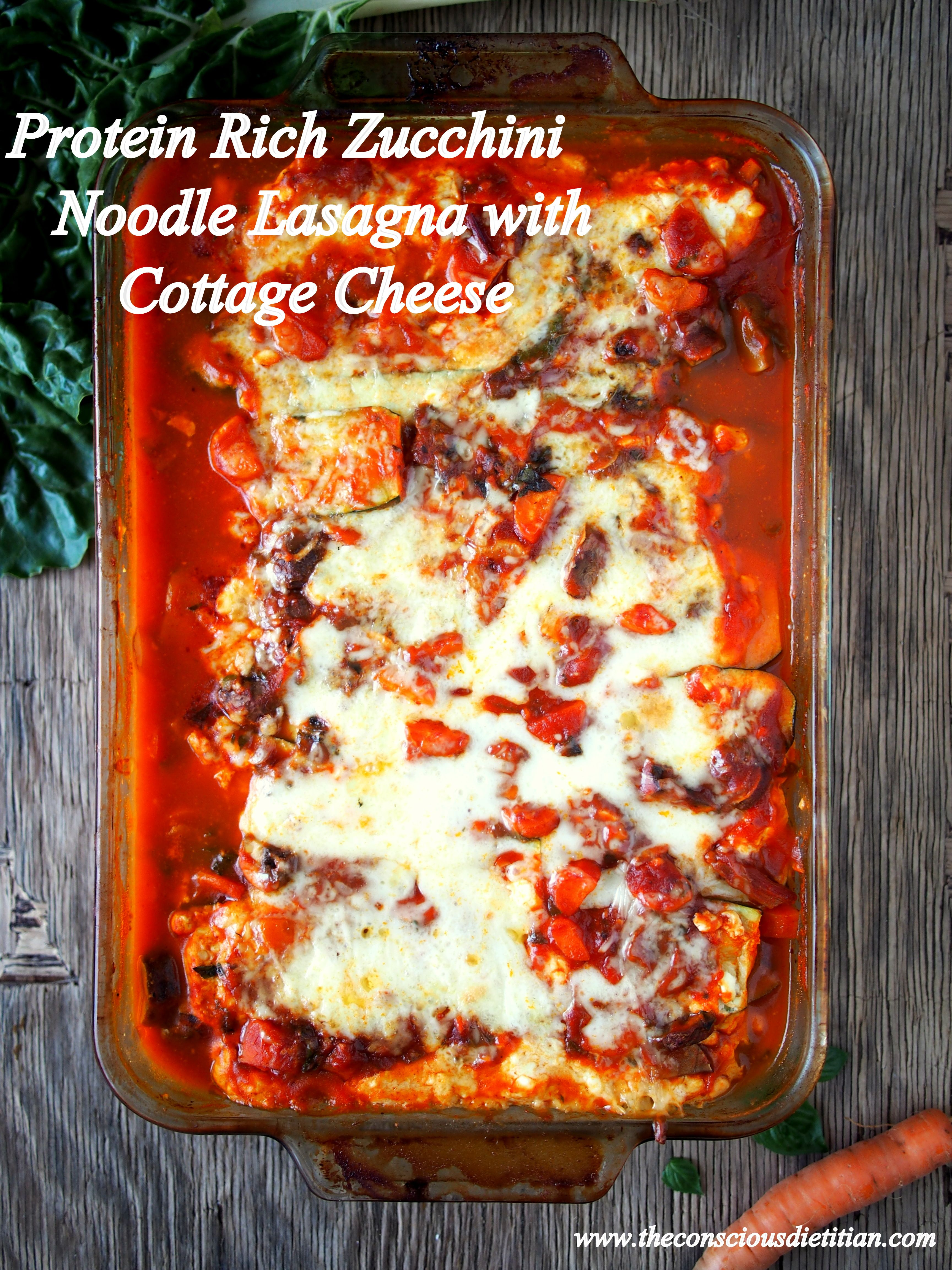 Tremendous High Protein Zucchini Lasagna With Cottage Cheese Interior Design Ideas Pimpapslepicentreinfo