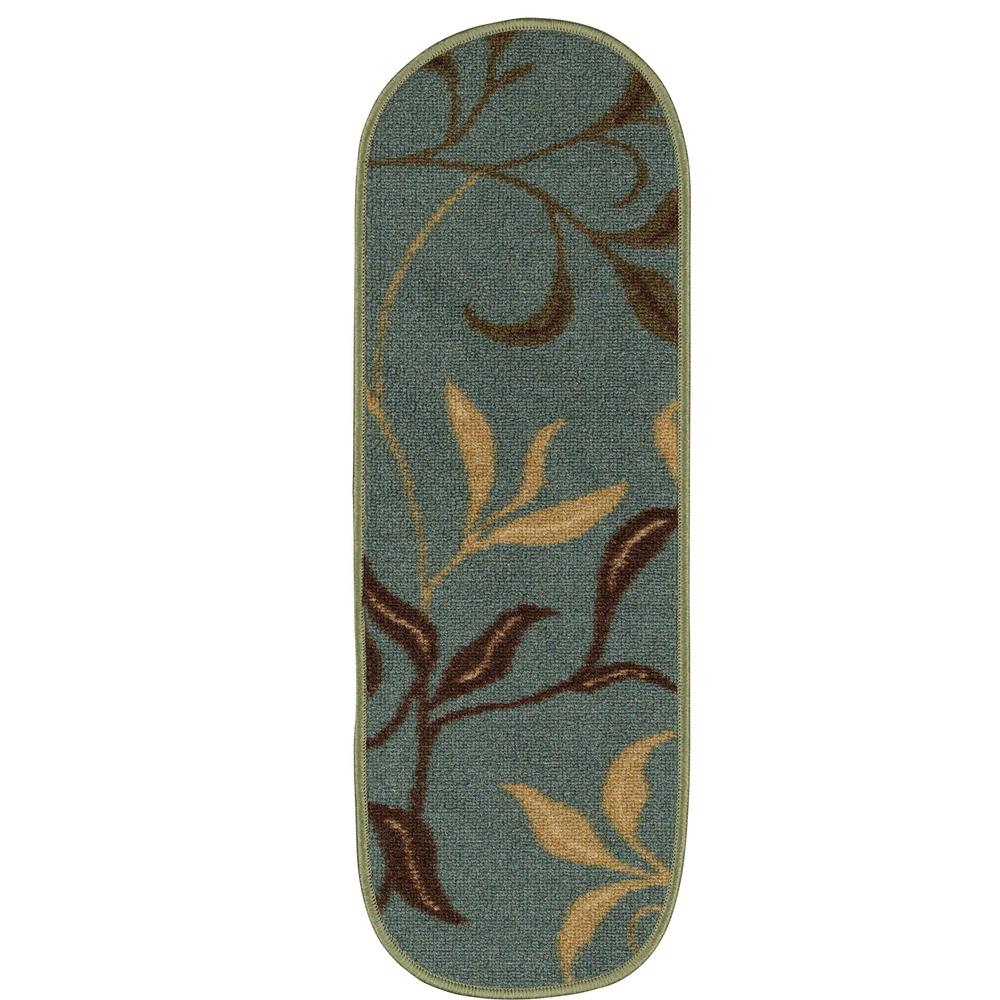 Best Ottomanson Ottohome Collection Contemporary Leaves Design 400 x 300