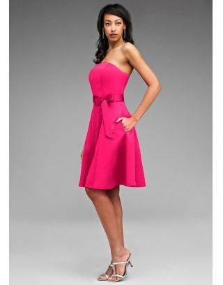 Robe cocktail rose fushia