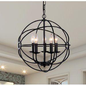5 light globe pendant lighting pinterest birch lane farmhouse 5 light globe pendant aloadofball Gallery