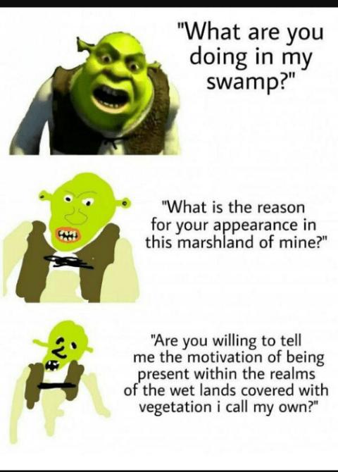 9fcaea34789ca864886b71cc3f46d345 shrek memes because reddit funny pinterest shrek, memes and