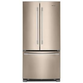 Whirlpool 22 1 Cu Ft French Door Refrigerator With Ice Maker Fingerprint Resistant Sunset Bronz French Doors Tuscan Kitchen