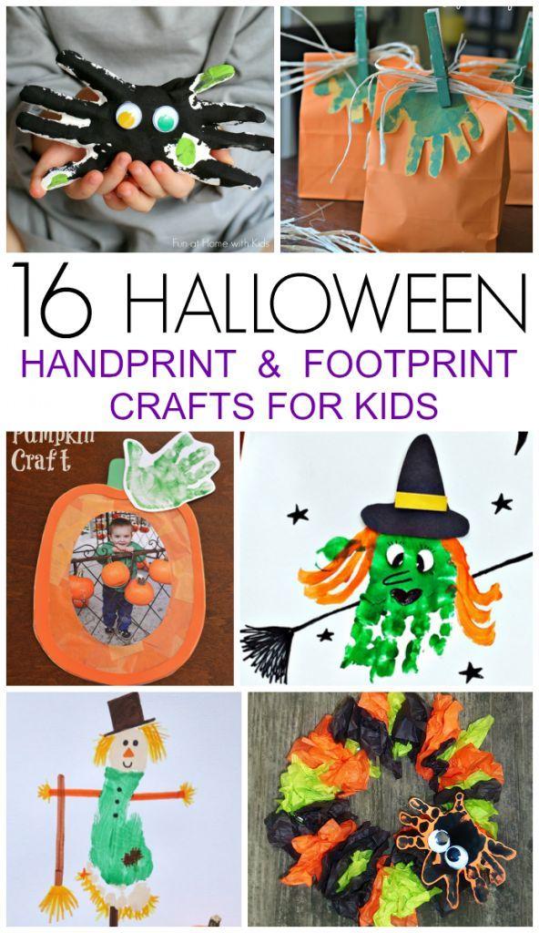 16 Halloween Handprint and Footprint Crafts   Footprint crafts ...