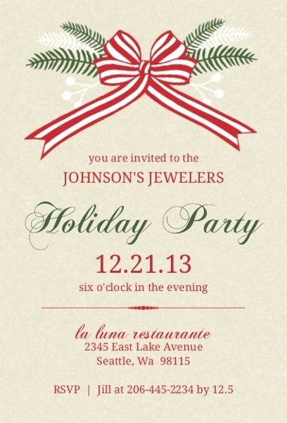Pin By On Office Christmas Party Invitation Wording