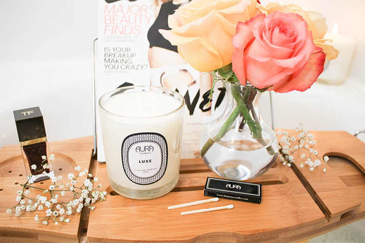 At Home Spa Day with Aura Candles