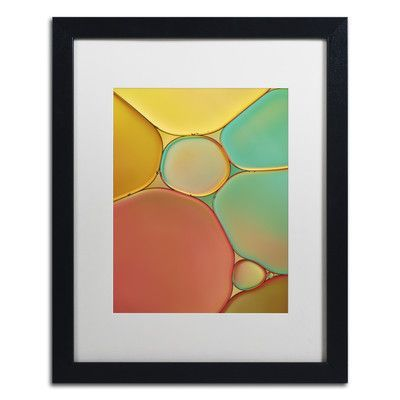 Trademark Art Red Yellow and Green Drops by Cora Niele Framed Photographic Print Size: