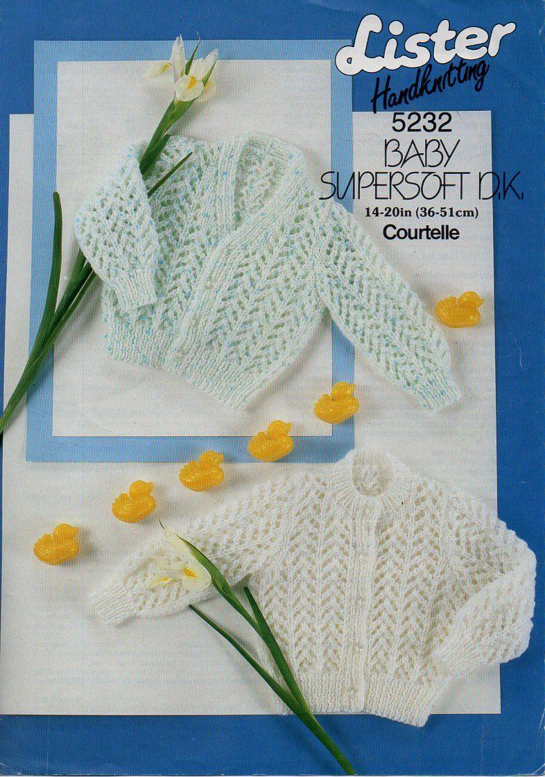 baby cardigans knitting pattern pdf baby lacy cardigans round neck v ...