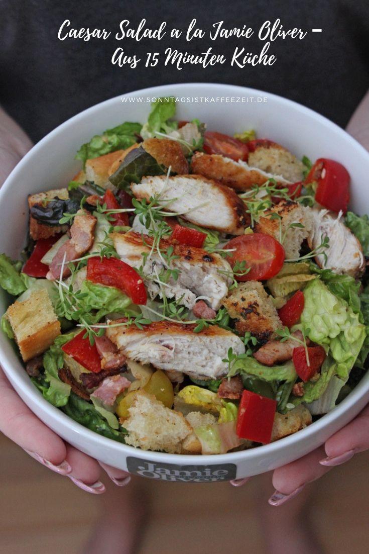 Caesar Salad A La Jamie Oliver Rezept Caesar Salat Rezept Rezepte Salat Rezepte Jamie Oliver