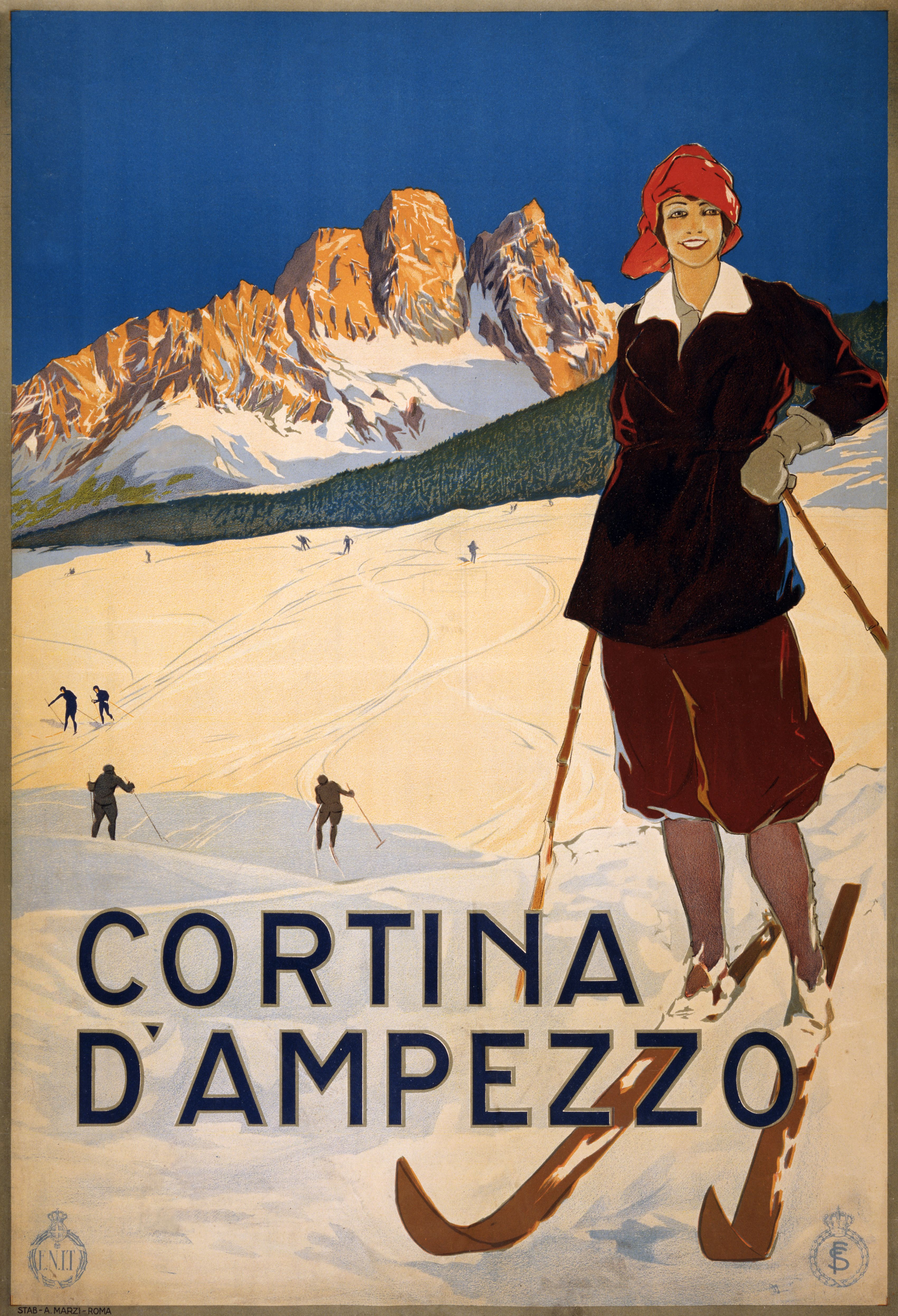 Cortina d'Ampezzo - Wikipedia, the free encyclopedia   Retro Posters