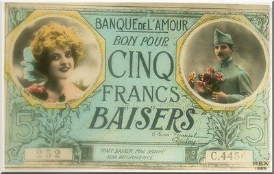 Cartes postales anciennes: amour