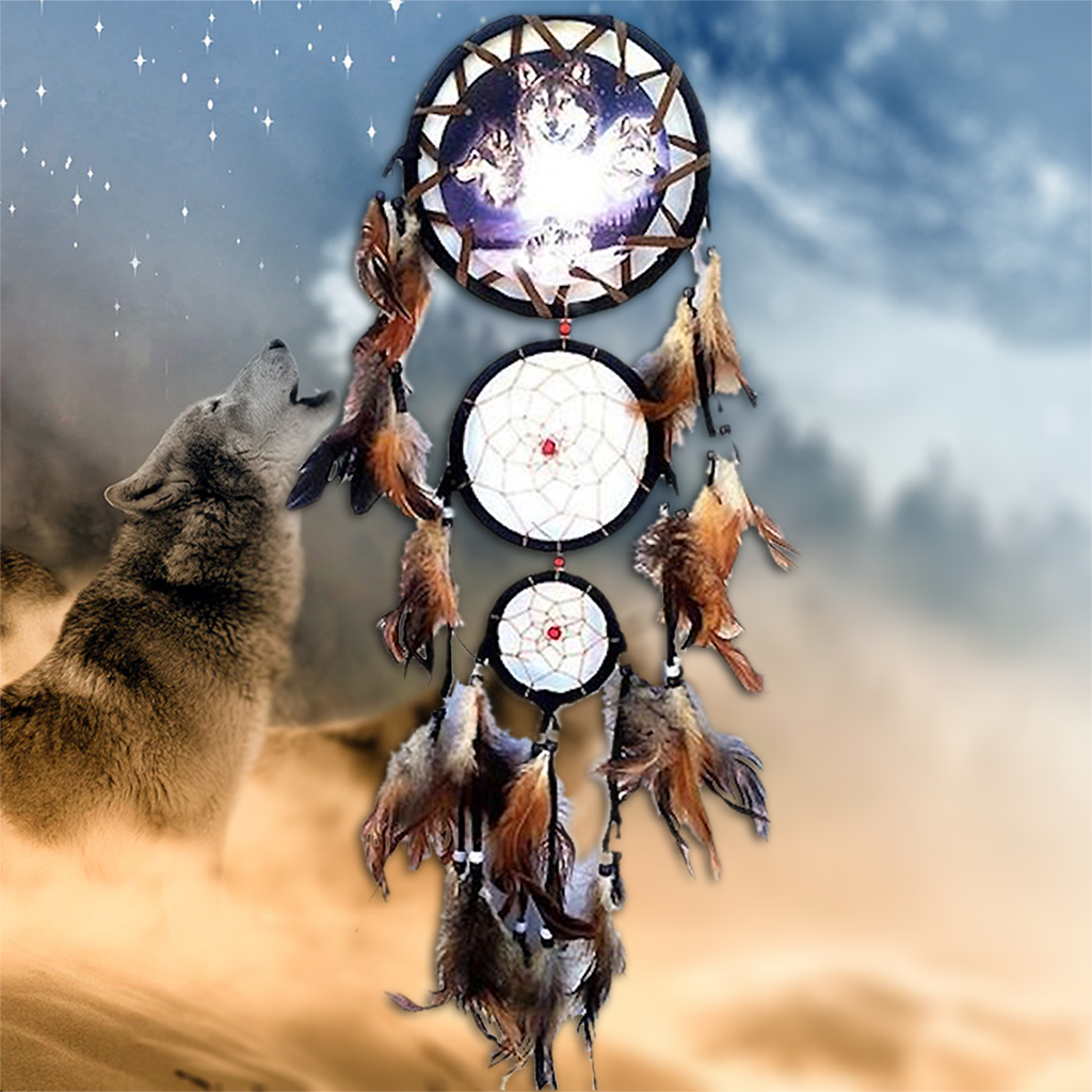 What Do Dream Catchers Do Symbolize Gray Wolf Dream Catcher with Feathers OFFER Gray wolf Dream 38