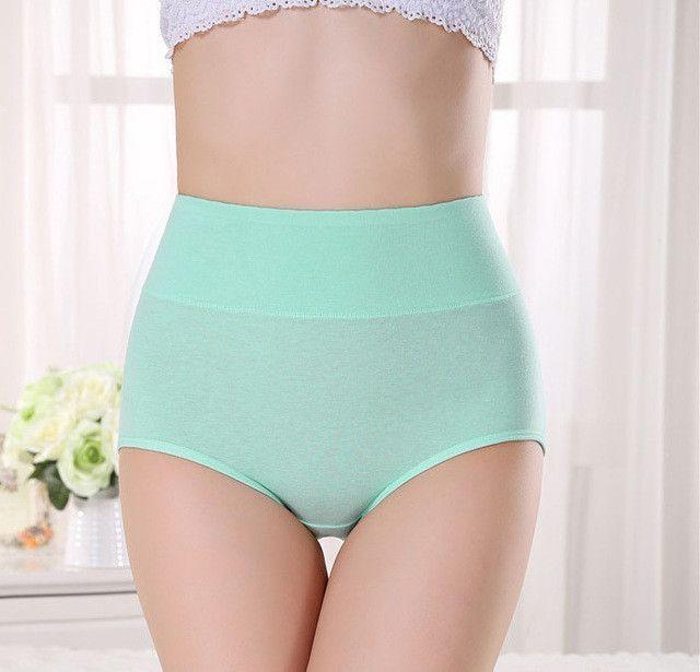 bee9aa597c Women Cotton Panty High Waist Breathable Trigonometric Panties Plus Size  Female Underwear Body Shaping Briefs M-XXXL