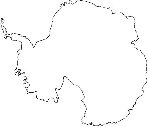 Antarctica Antarctica Map Outline Coloring Pages