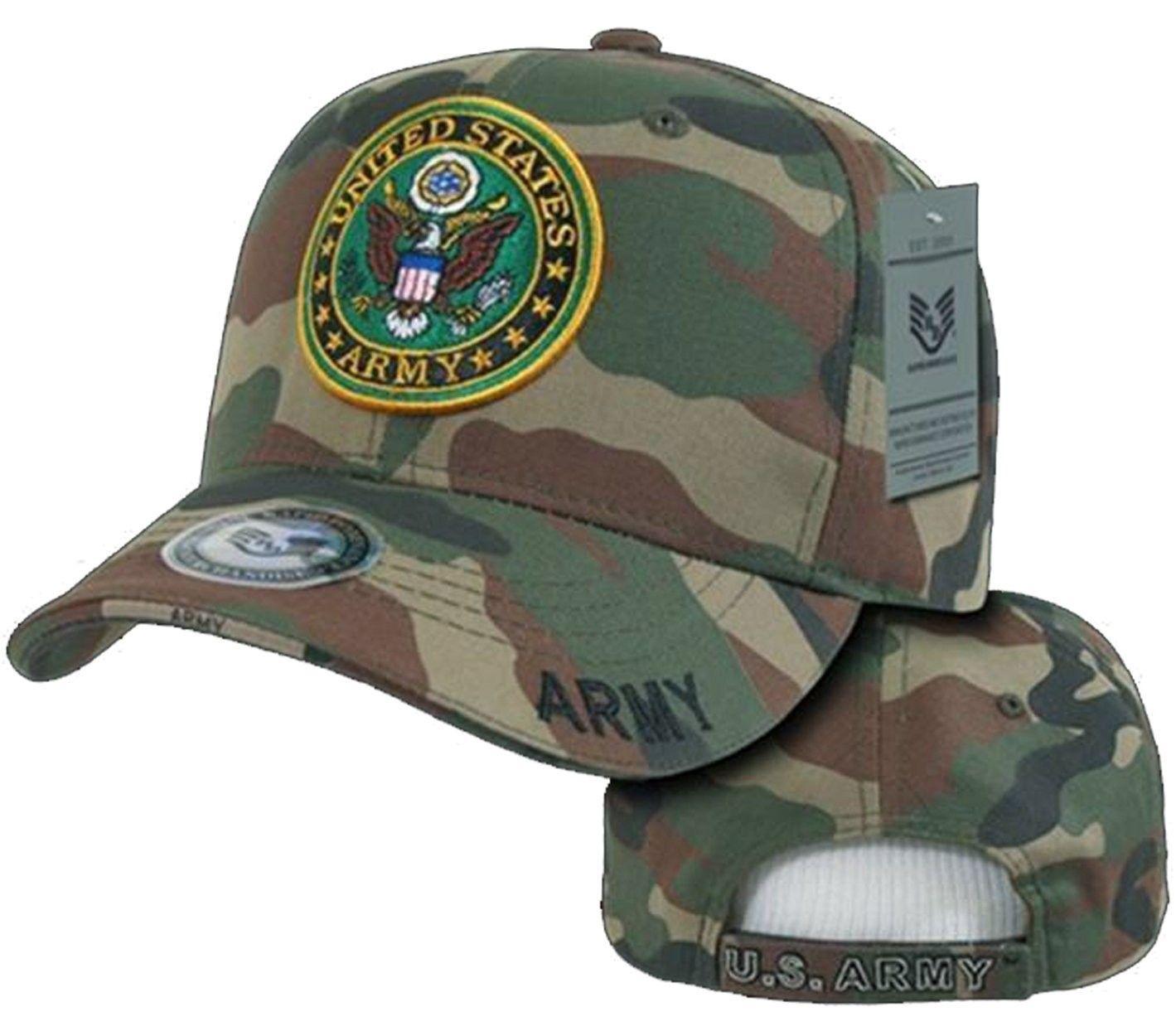1dcb29e8e5bf92 Army Veteran Hat Camouflage Baseball Cap Woodland Camo US Military Seal -  CV120PO9B4X - Hats & Caps, Women's Hats & Caps, Baseball Caps #fashionwomen  ...