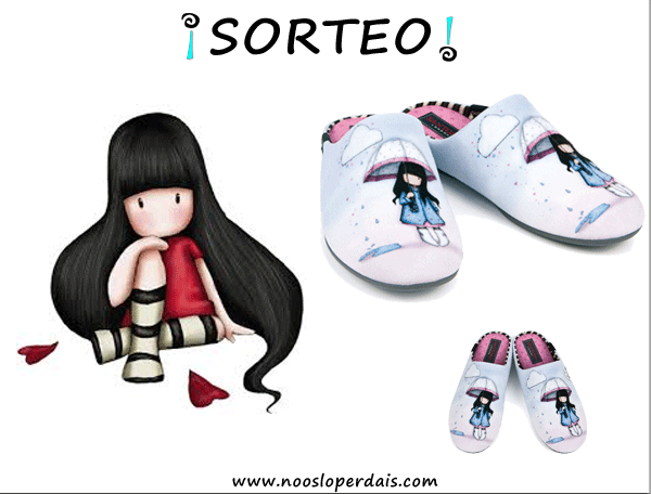 Sorteo de unas slippers colección Gorjuss de Garzon. Para participar entra aqui: http://noosloperdais.com/2015/03/12/sorteo-slippers-coleccion-gorjuss-de-garzon/