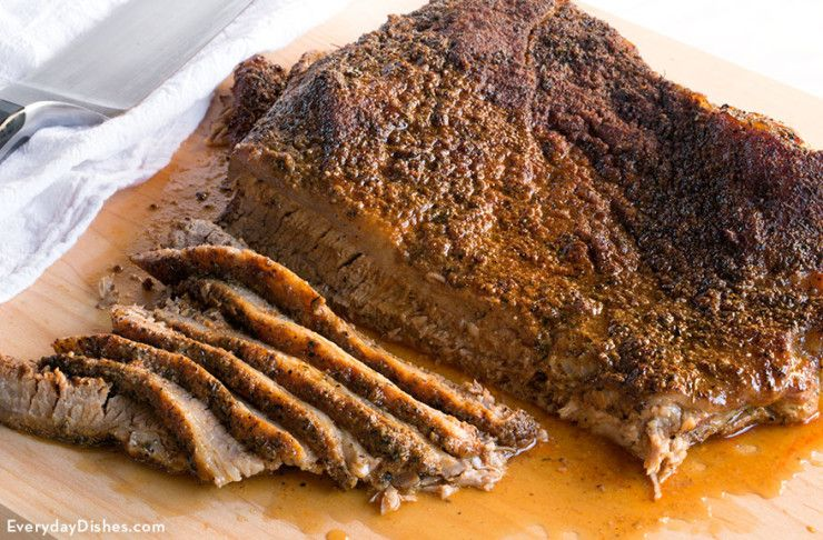 how to prepare a beef brisket for smoking
