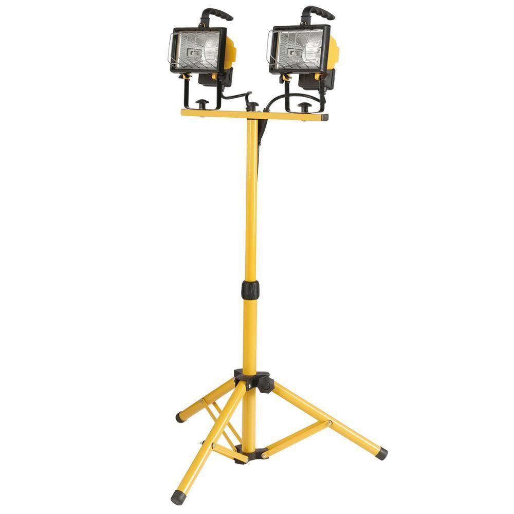 Globe electric 500watt twinhead halogen yellow work