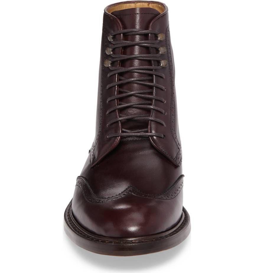 61b03c06ed4 Handmade Men Wingtip brown formal boot Men brown leather lace up ...
