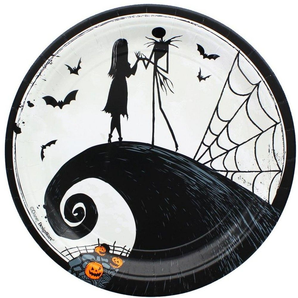 Amscan Nightmare Before Christmas 9 Round Paper Pl