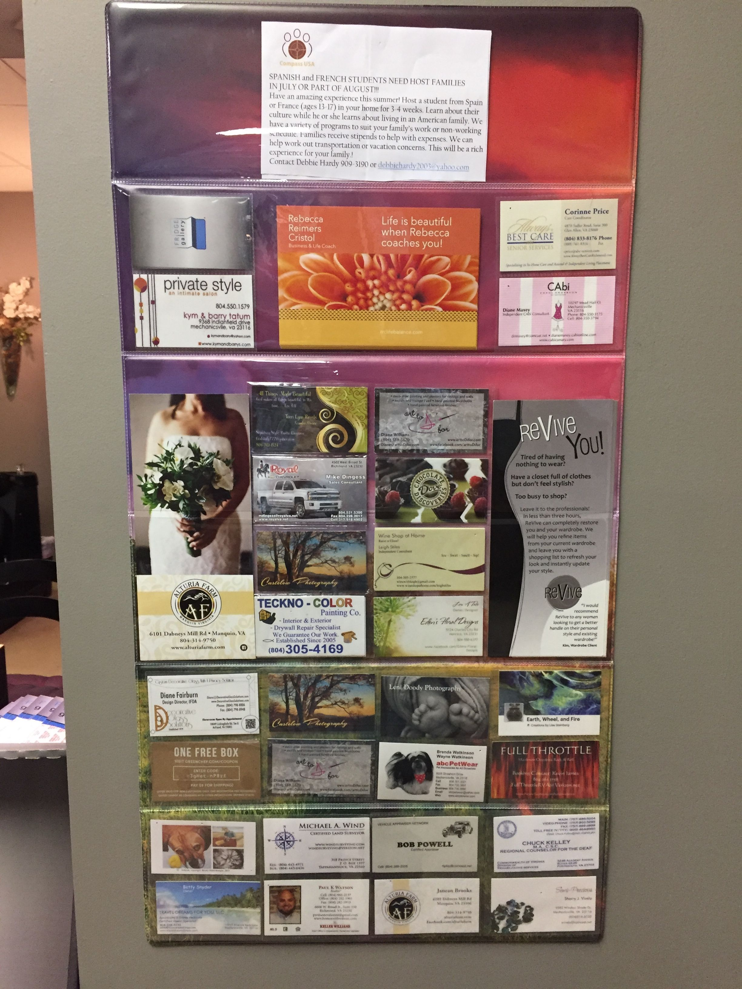 Convenient and elegant way to display business cards, invites and ...