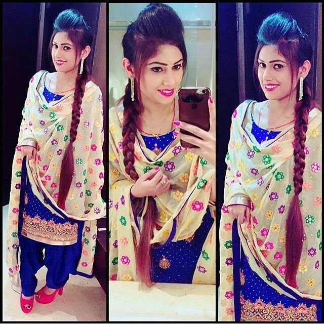 Love Her Hairstyle Beautiful Suit Suit Accessories Punjabi Girls