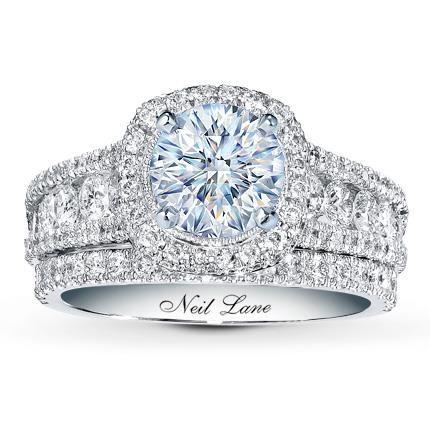 0478221df ... Jared The Galleria Of Jewelry. 1.50 Carat D-VS1 Very Good Cut Round  Diamond plus Neil Lane Bridal Setting 1 1/2 ct tw Diamonds 14K White Gold