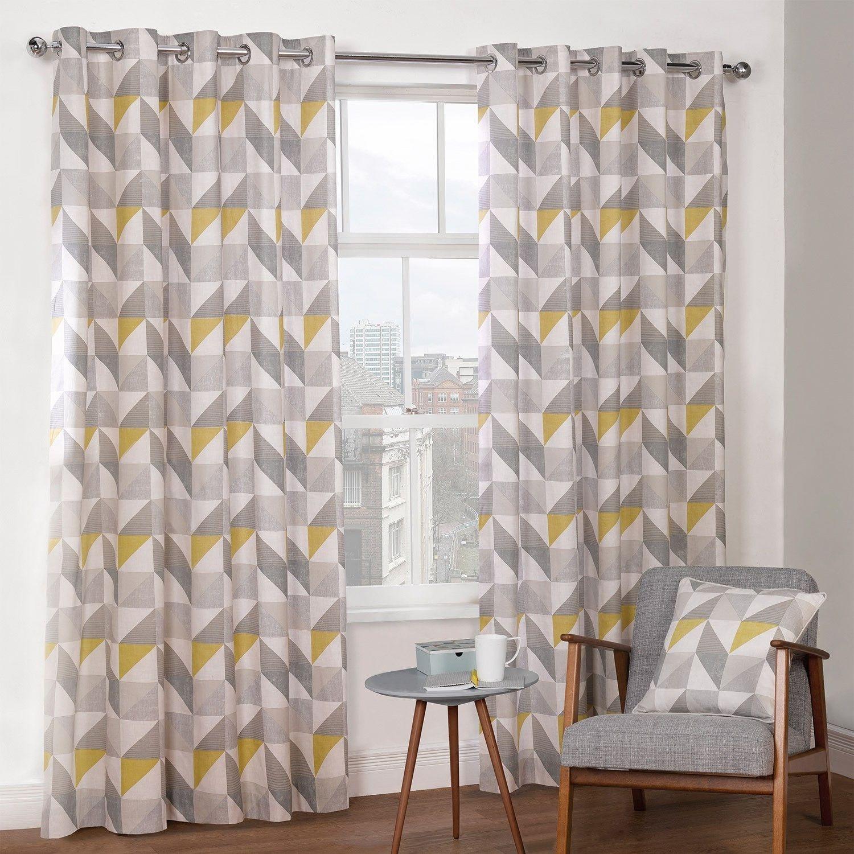 Enchanting Yellow And Grey Curtains Grey And Yellow Living